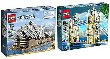 LEGO Creator Expert Sets Bundle: London Tower Bridge 10214 and Sydney Opera  House 10234