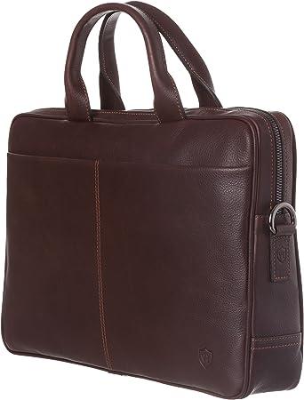 VON HEESEN Laptoptasche bis 15,4 Zoll I Made in Italy I 1 Hauptfach I Umhängetasche für Laptop I Leder Aktentasche für Notebook I Tasche für Damen und