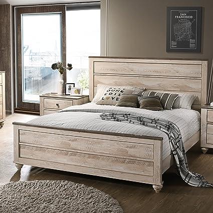 Amazon.com: Roundhill Furniture B132Q Amerland Contemporary White ...