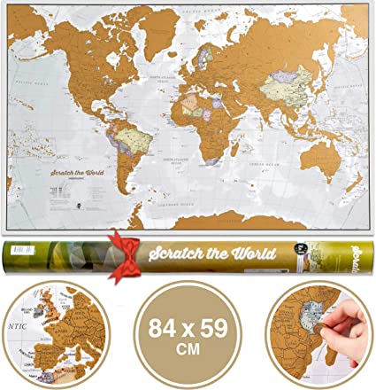 Scratch The World Travel Map Scratch Off World Map Poster With
