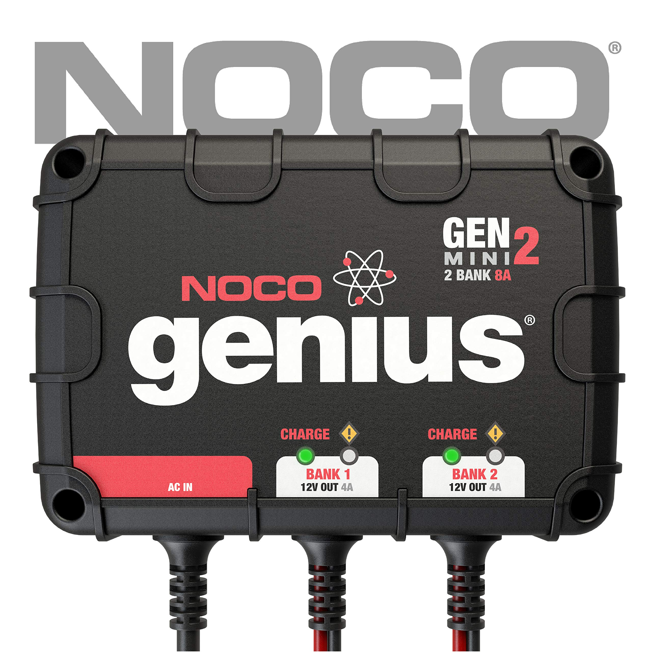 NOCO Genius GENM2 8 Amp 2-Bank On-Board Battery Charger by NOCO