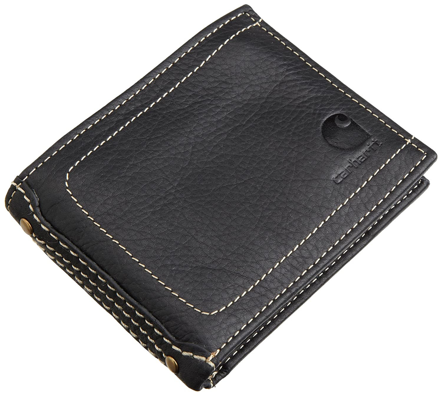 d37984416c4 Carhartt Men's Trifold Wallet, Black, One Size at Amazon Men's Clothing  store: Carhartt Wallets For Men
