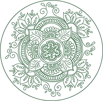 Amazoncom Pretty Colorful Vibrant Mandala Henna Flower Drawing