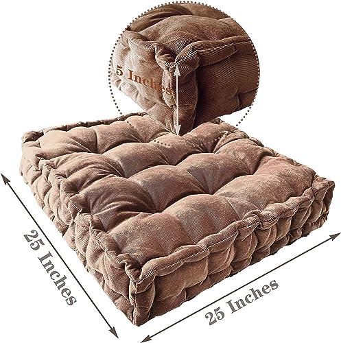 Floor Pillow,Square Meditation Cushion Floor Seating