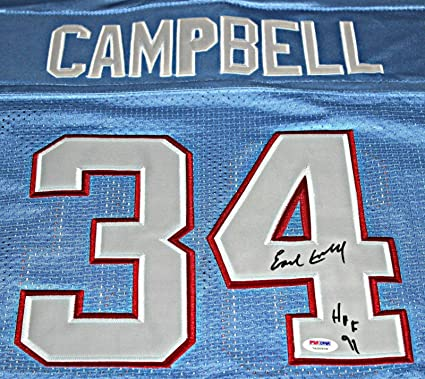 Image Unavailable. Image not available for. Color  EARL CAMPBELL  Signed quot HOF 91 quot  Houston Oilers Jersey Autograph ... 63a7da06b