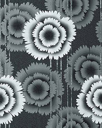 Amazoncom Wallpaper Wall Floral Retro 70s Style Flowers