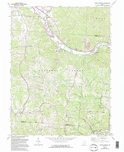 Union Ohio Map.Amazon Com Ohio Maps 1961 Union Oh Usgs Historical Topographic