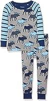 Hatley Boys' Organic Cotton Long Sleeve Printed Pajama Set