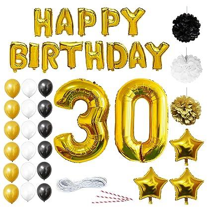 BELLE VOUS 30 Cumpleaños Decoracion - Globos de Cumpleaños Guirnalda - Globos de Helio para el