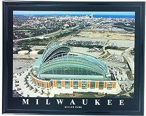 Milwaukee Brewers Baseball Framed Aerial Photo F7563A