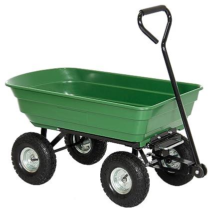 Amazon.com : Best Choice Products 650LB Garden Dump Cart Wheelbarrow ...