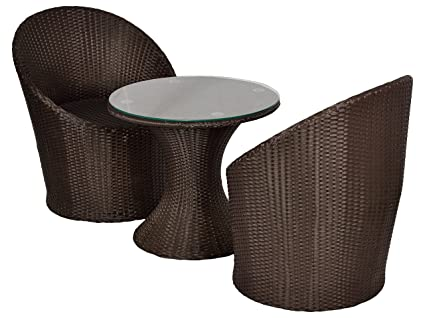 Furnifuture Olympia Outdoor Patio Furniture 2 Chairs And Table Set