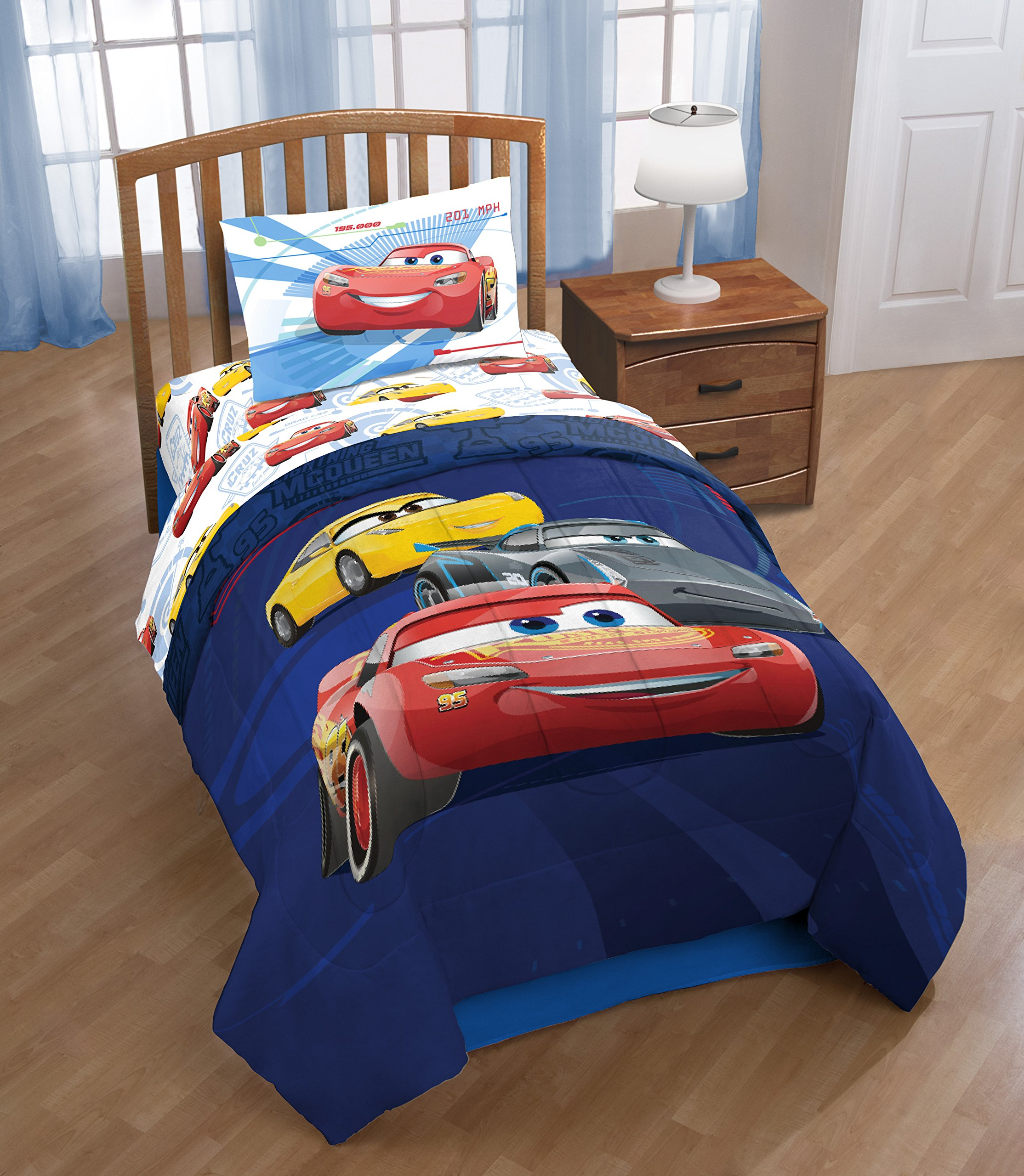 Jay Franco Cars 3 High Tech Twin 3 Piece Sheet Set, Red by Jay Franco (Image #7)