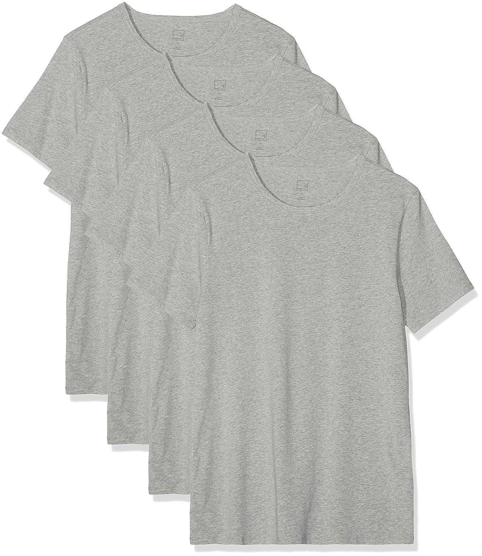 Pack de 4 MERAKI Camiseta Interior con Cuello Redondo Hombre