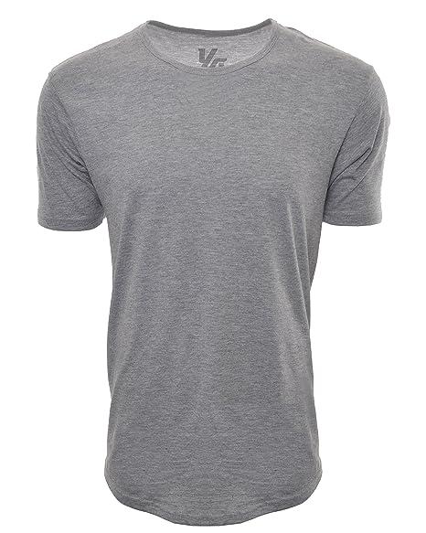 3c8b124f522 YoungLA Long Workout Shirts for Men Basic Elongated Drop Tail Hipster T- Shirts 411 Gray