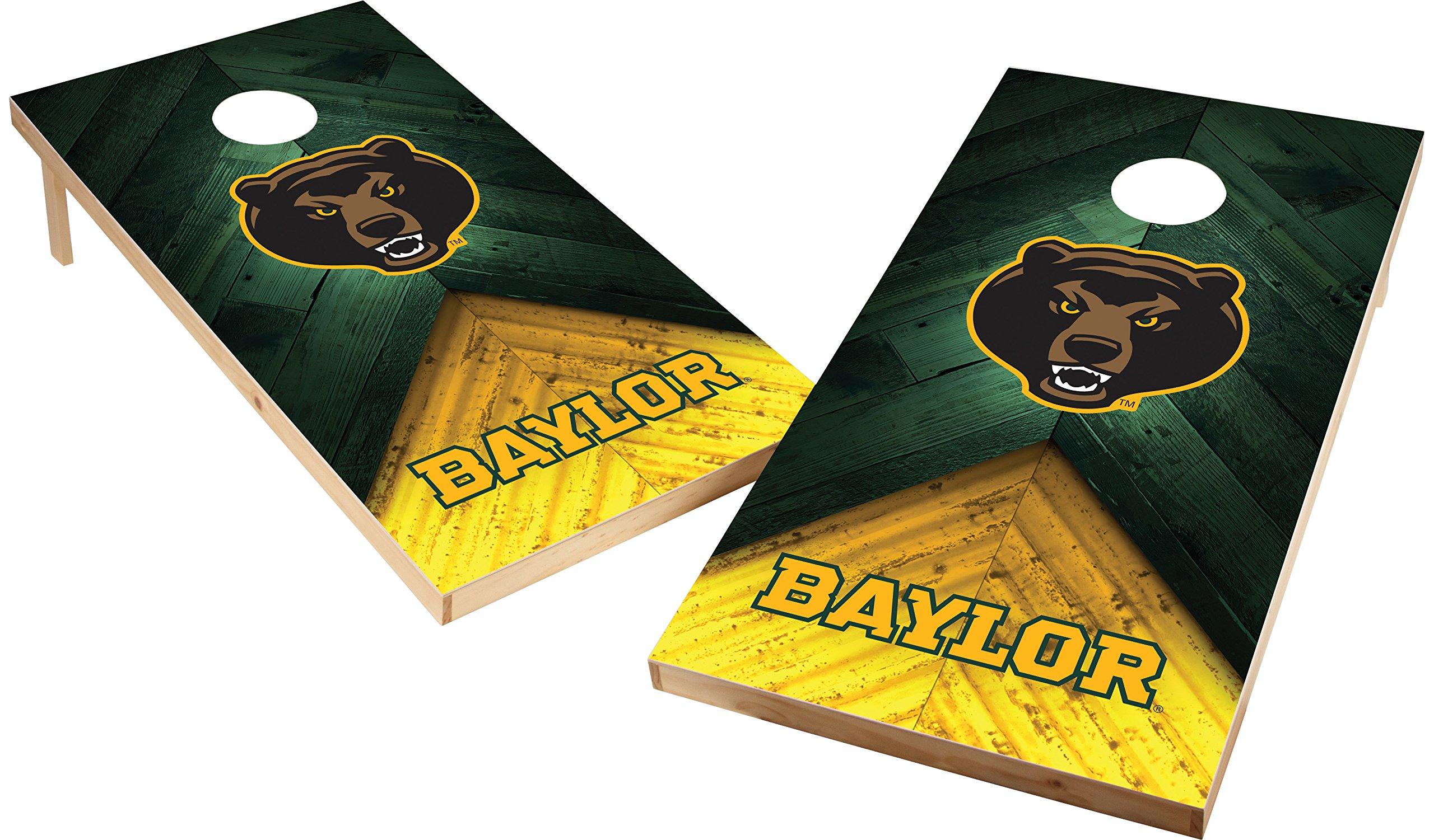 Wild Sports NCAA College 2'x4' Baylor Bears Cornhole Set
