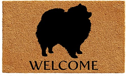 Calloway Mills AZ105672436 Pomeranian Doormat, 24 x 36 , Natural Black