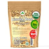 Licorice Root Tea 1LB (16Oz) 100% CERTIFIED Organic Licorice Root Cut and Sifted (Glycyrrhiza glabra ), in 1 lbs. Bulk Reseal
