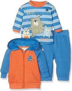 Pitter Patter Baby Gifts Coordinato Blu Navy/Arancione 1-3 Mesi (56/62 cm) 29204 29204_NAVY-0-3Months