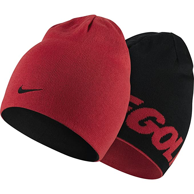 551bfb6e3a2 Nike Reversible Knit Golf Hat-803334-657-Red Black