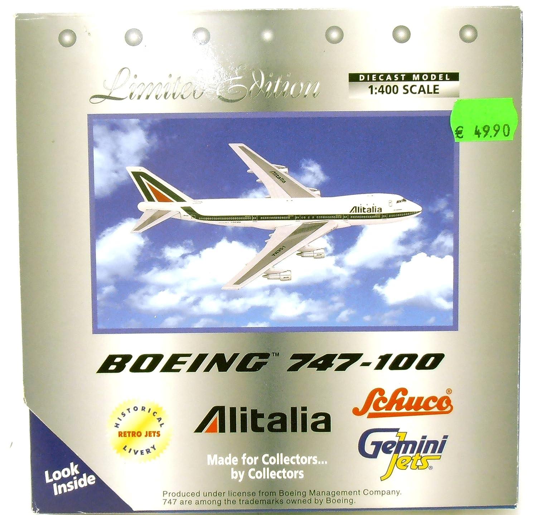 Schuco 3557358 _ Boeing 747-100 'Alitalia' _ 1:400