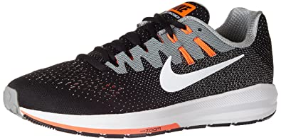 finest selection 48be4 ccd59 Nike Men s Air Zoom Structure 20 Black Textile Running Shoes 8.5