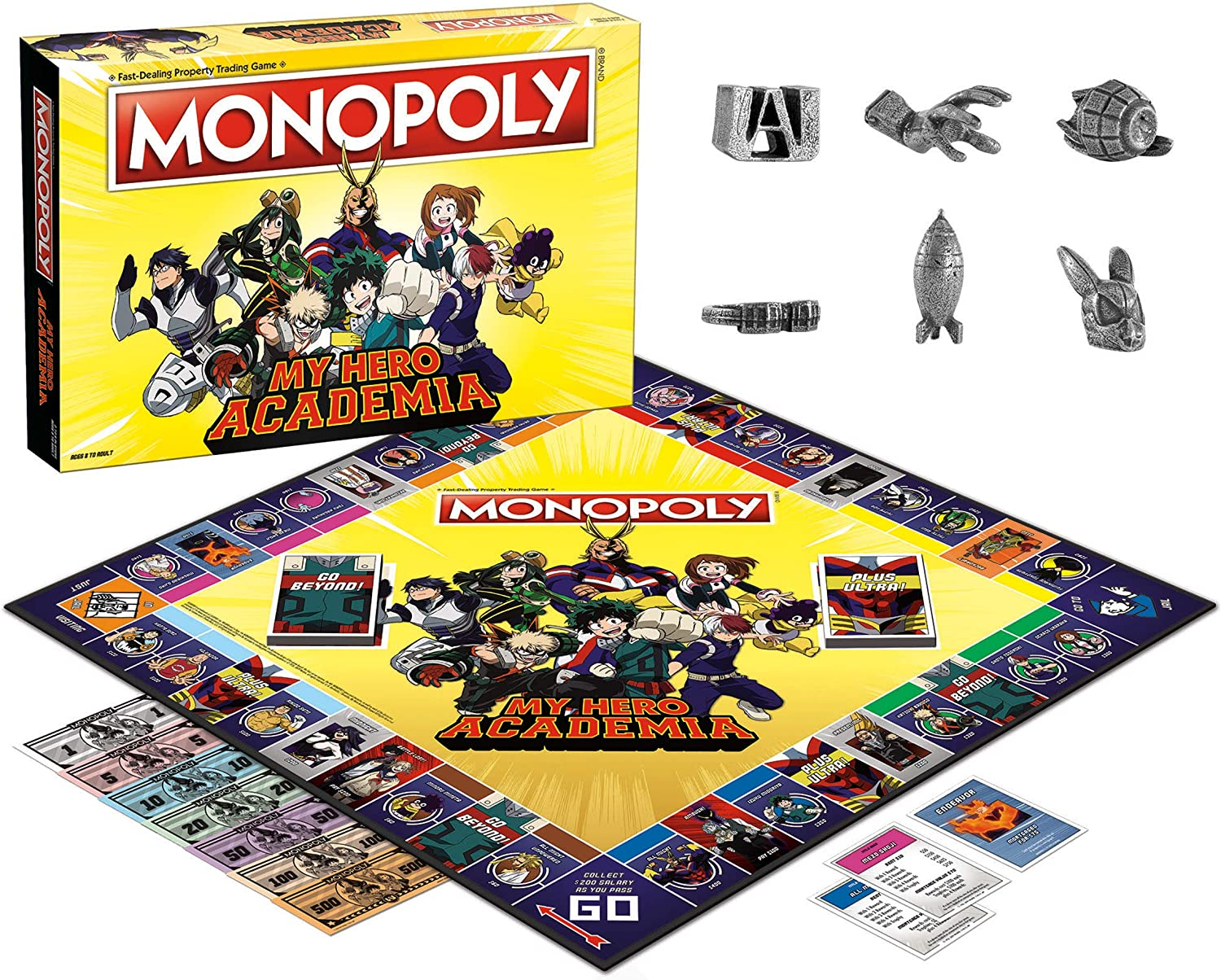 Amazon.com: Monopoly My Hero Academia Board Game - Juego de ...