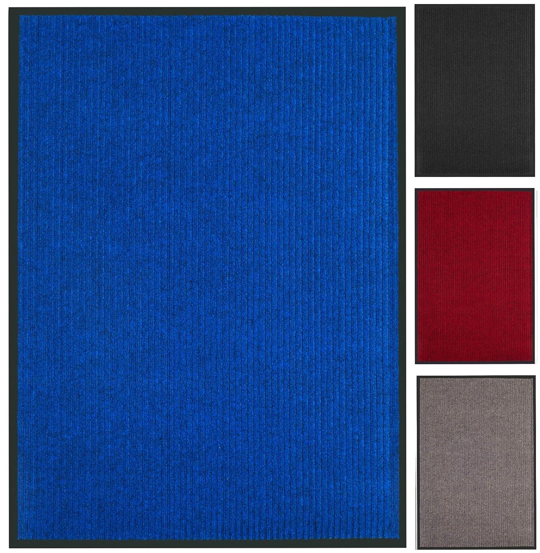 Rutchfeste Fu/ßmatte f/ür Innen und Au/ßen Praknu Schmutzfangmatte 90 x 150 cm Blau Waschbar