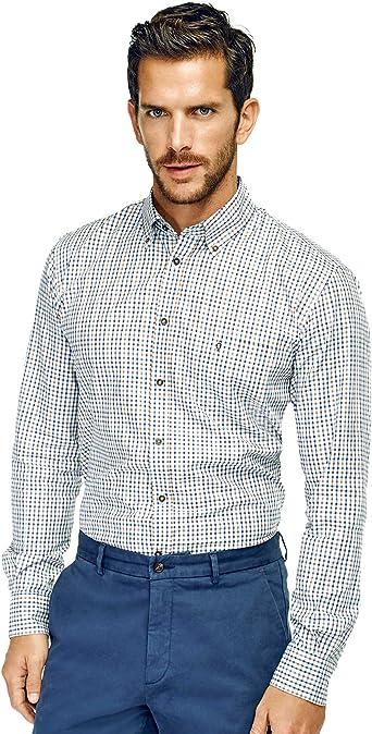 Caramelo, Camisa Regular Cuello Button Down, Hombre · Marron ...