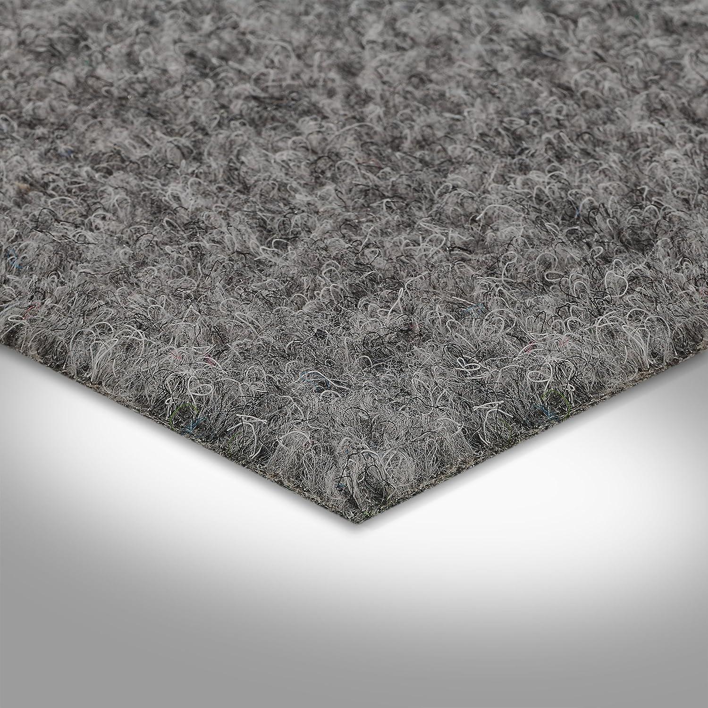 7,5mm verschiedene Gr/ö/ßen 133 Kunstrasen Rasenteppich mit Noppen grau H/öhe ca Meterware 200 und 400 cm Breite Gr/ö/ße: 3 x 4 m