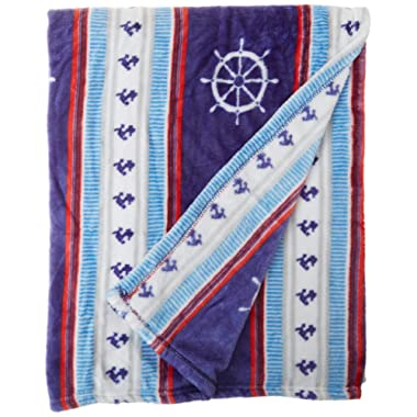 Cozy Fleece Plush Throw Blanket, 50x60 Nautical