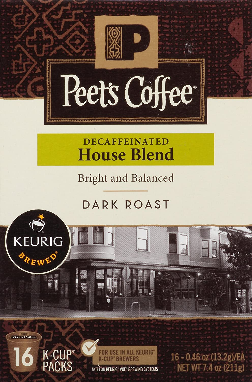 Peet's Coffee Decaf House Blend 16ct single-serve coffee for ...
