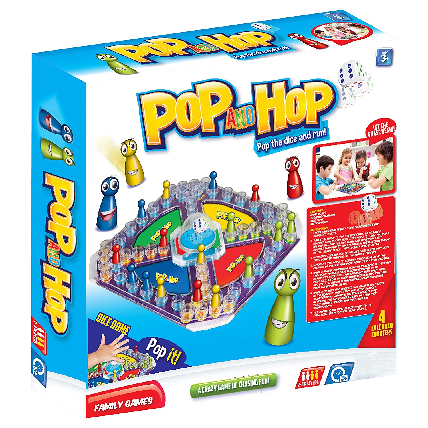 Pop and Hop Board Game by Laeto Toys & Games Frustration