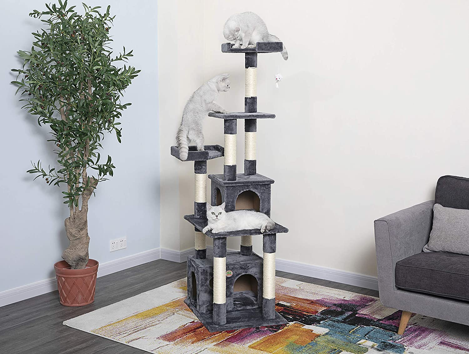 Go Pet Club Cat Condo, 67-Inch with free shipping