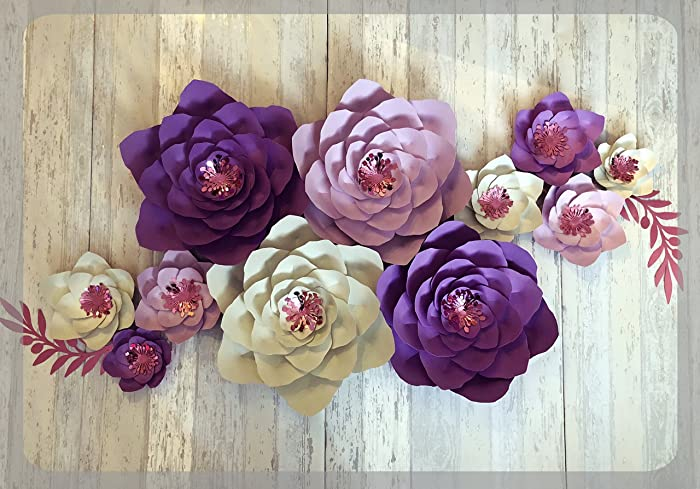 Paper flower decorations large paper flowers wedding backdrop paper flower decorations large paper flowers wedding backdrop christening decorations bedroom mightylinksfo