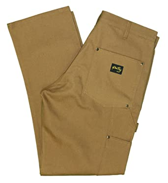 52d6c9873d Stan Ray Men's Double Front Riveted Duck Utility Work Pants - Made in the  USA Brown