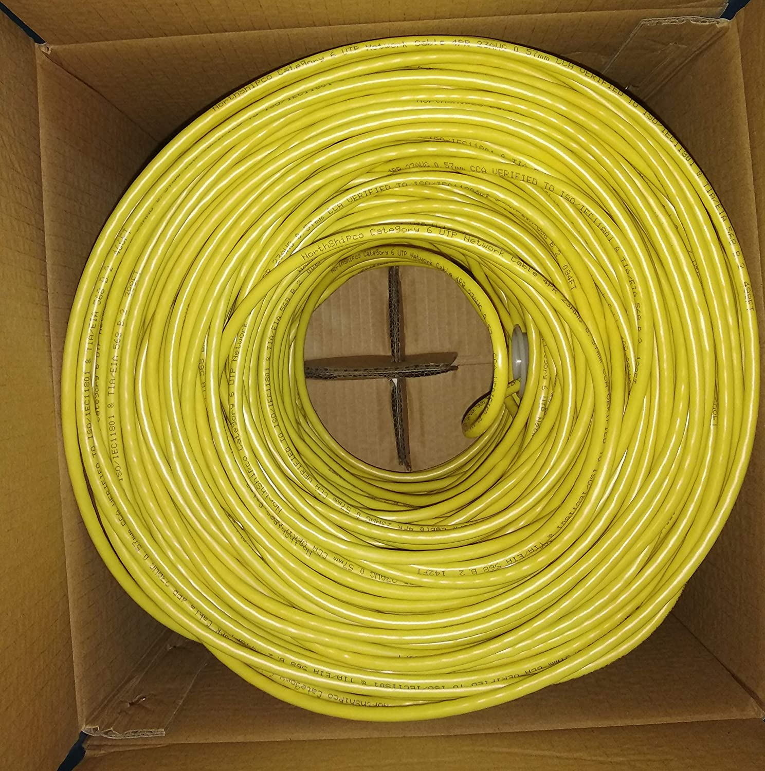 CAT6 UTP 500, Blue 500 ft Conductor: 4 Pairs CCA 0.57mm Insulation: HD-PE Filler: PE Cross Jacket: PVC Working Distance: 100-120M 23awg