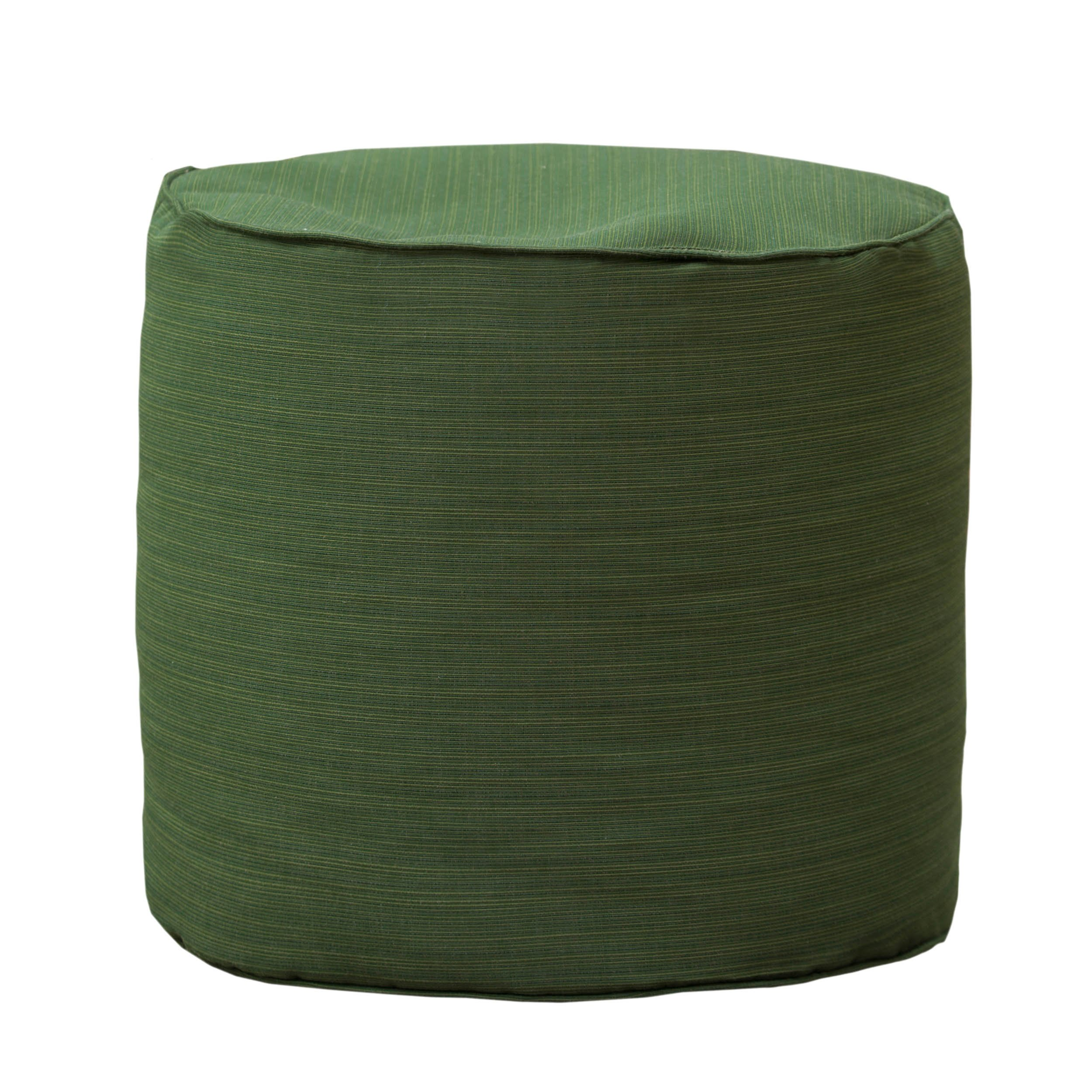 Gold Medal Bean Bags Outdoor/Indoor Sunbrella Weather Resistant Ottoman, Dupione Palm