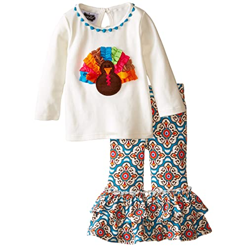 Mud Pie Baby Girls Turkey Tunic and Legging Set