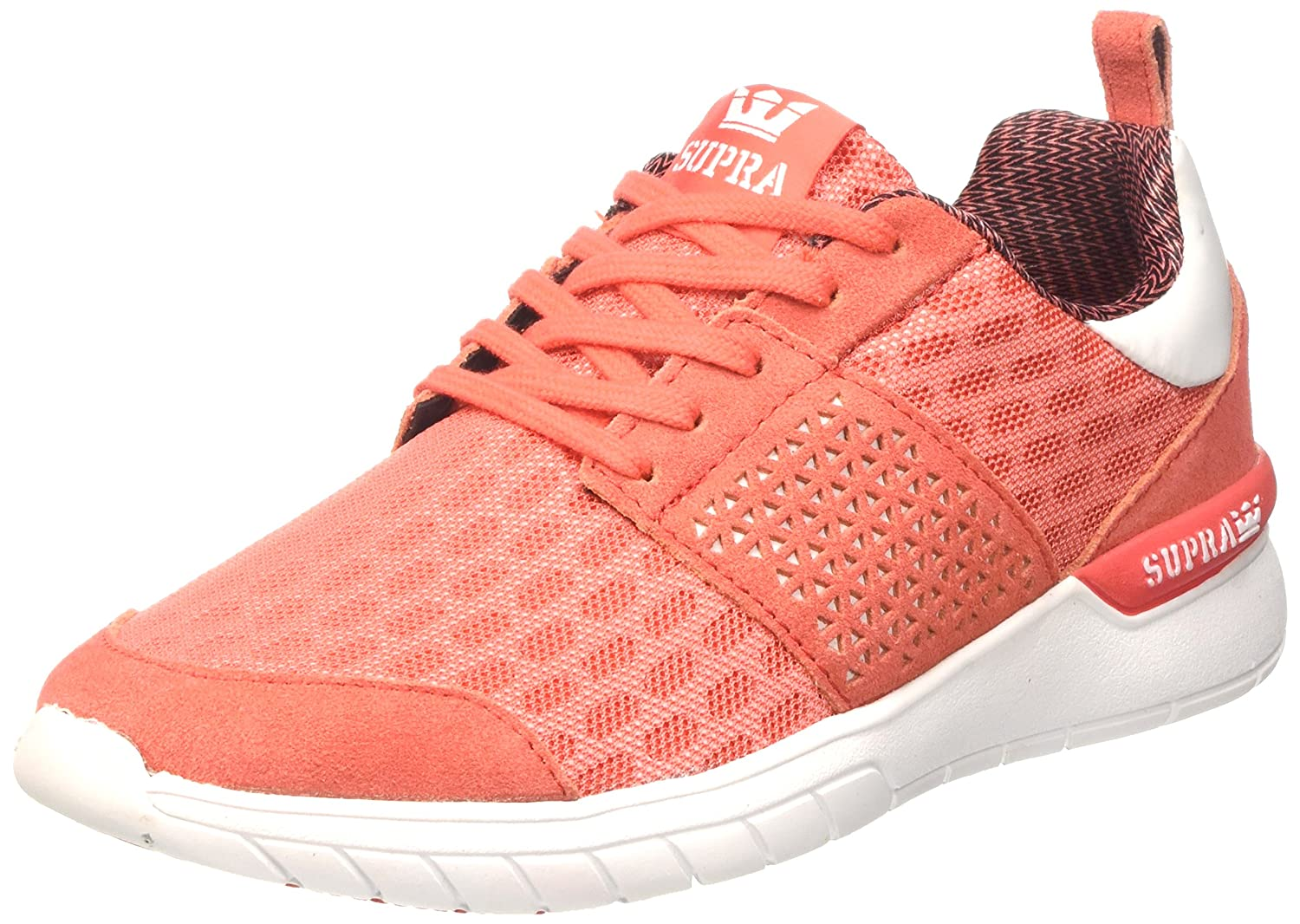 Supra Women's Scissor '18 Shoes B01IFMDG0A 7 B(M) US|Coral/White