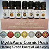 MysticAura Cosmic Pack - Healing Grade Essential Oil blends (7 bottles of 5 ml each for every day of the week)