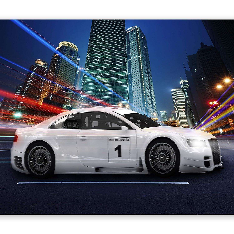 Murando - Fototapete 400x280 cm - Vlies Tapete - Moderne Wanddeko - Design Tapete - Wandtapete - Wand Dekoration Auto Motorsports Stadt Nacht i-A-0098-a-a