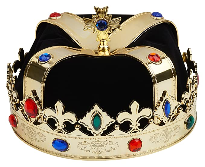 Amazoncom Royal Crown For King Queen Black And Gold Clothing