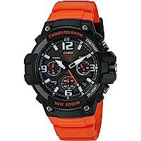 Casio 'Heavy Duty Chronograph' Reloj casual de resina y acero inoxidable con cuarzo, color: naranja (Modelo: MCW100H-4AV)