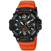 Men's Sports Stainless Steel Quartz Watch with Resin Strap, Orange, 25 (Model: MCW100H-4AV)