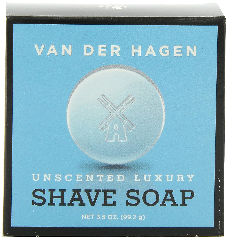 Van Der Hagen Men's Luxury, Unscented Soap, 3.5 Ounce (Pack of 3) 400053