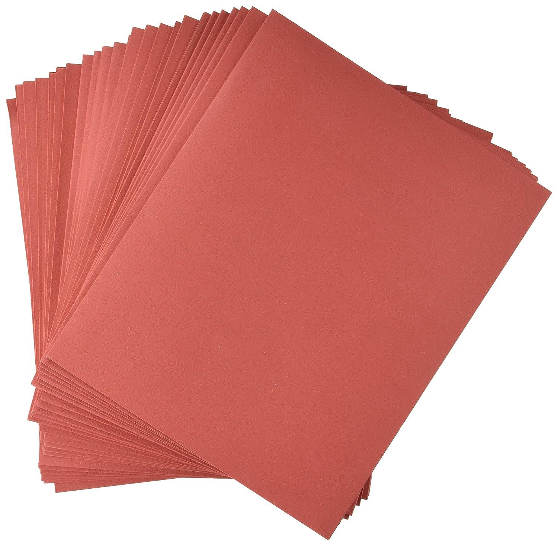 School Smart Heavy Duty 2 Pocket Folder - 8 1/2 x 11 inch - Pack of 25 - Red