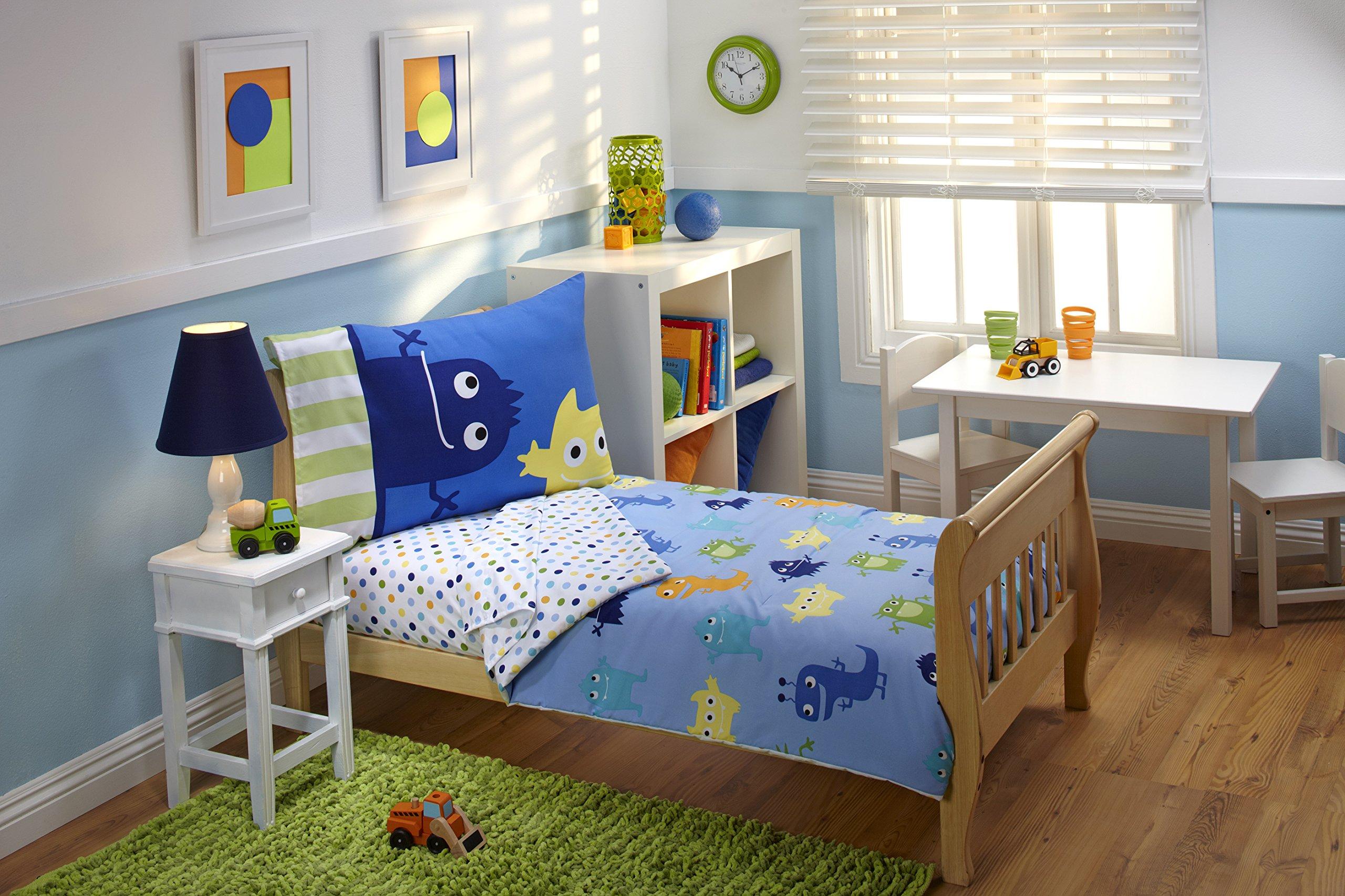 Everything Kids Toddler Bedding Set, Monster | eBay