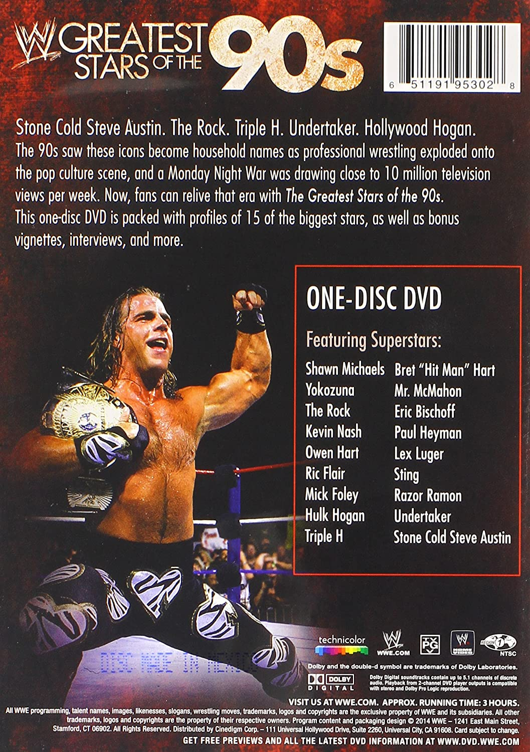 Amazon.com: WWE: Greatest Stars of the 90s (One Disc): compilation ...