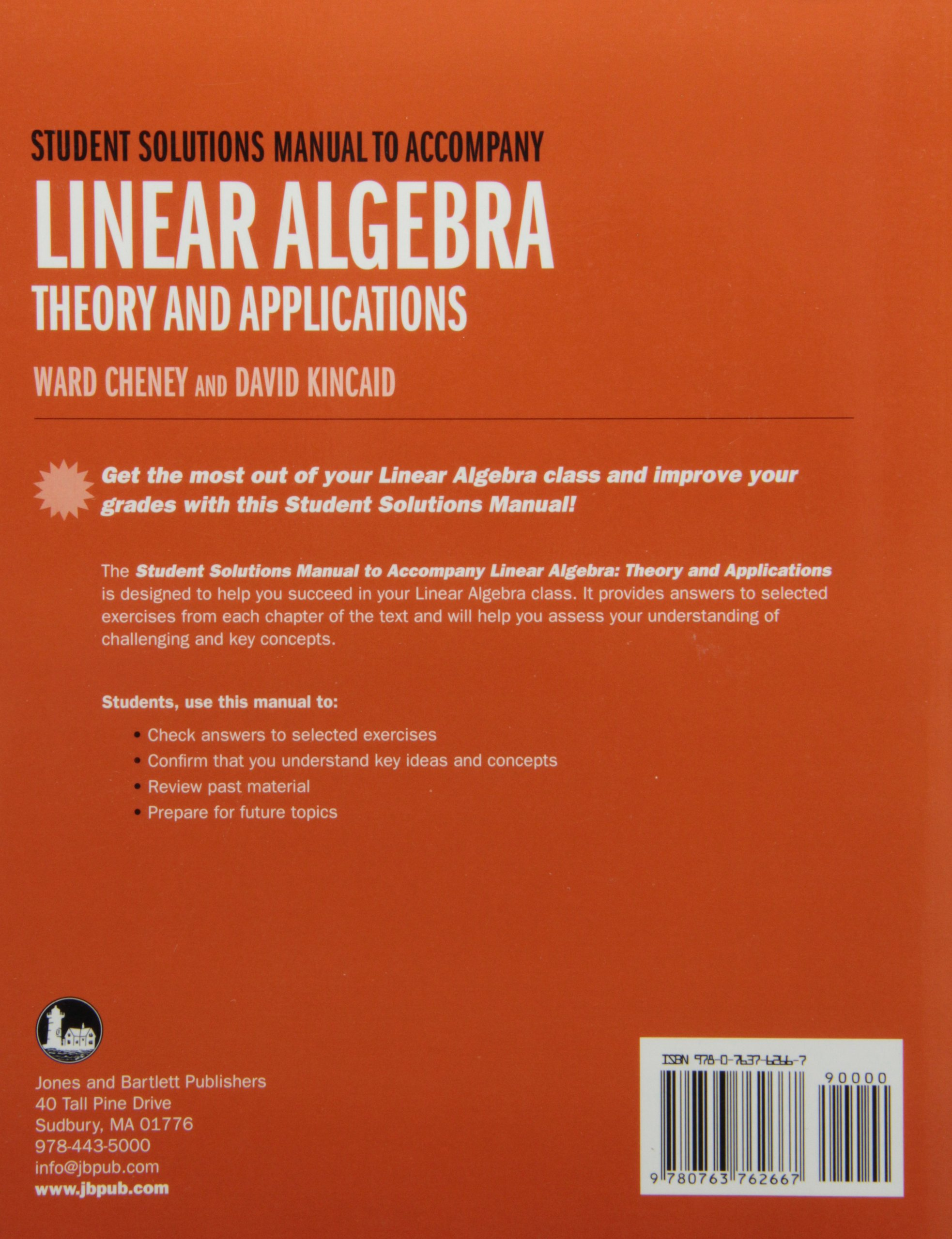 buy student solutions manual to accompany linear algebra theory and rh amazon in Algebra Solution Set Calculator Applying a Solution